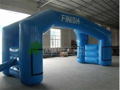 Double arc de course gonflable stable