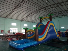 18 pieds jungle water slide