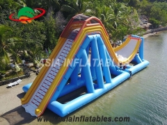 Fun Park Amusement Inflatable Floating Slide